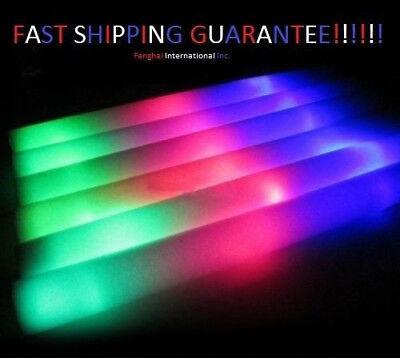 100 PCS, Flashing Glow Foam Sticks, Light Up, LED, Wands, Batons,DJ,Free US Ship (Led Foam Sticks)