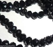 Black Faceted Beads