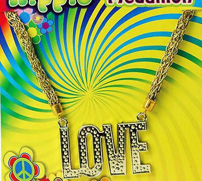 'Love' Necklace 70'S Hippy Flower Power Austin Powers Festival Fancy Dress - Austin Powers Necklace