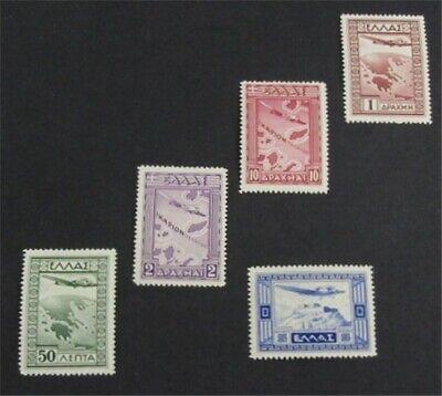 nystamps Greece Stamp # C15-C19 Mint OG H/NH $35   L23y322