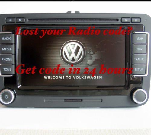 vw radio decode gps in car technology ebay. Black Bedroom Furniture Sets. Home Design Ideas