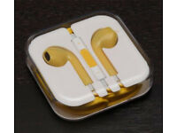 3.5mm Yellow Earbuds With Remote Mic