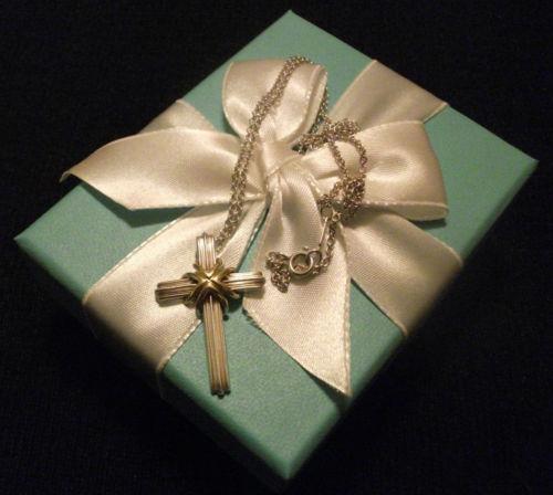 Tiffany Heart Bracelet >> Tiffany Cross Pendant | eBay