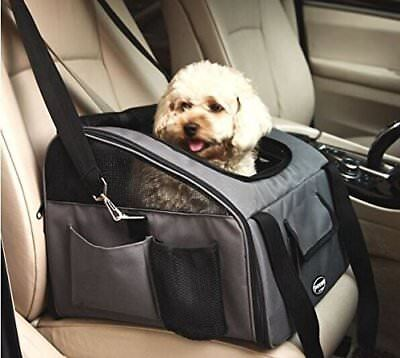 Pet Carrier Car Seat Bag Dog Cat Booster Folding Travel Safety Comfortable Grey