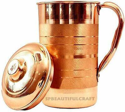 Copper Water Jug Pitcher Pot Handmade For Drinking Water Health Benefits 1500ML