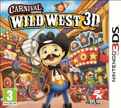 Carnival Games Wild West 3D (3DS, 2012) PAL Party/ Kids ~Fast & Free Postage J1L ()