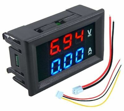 Dual Led Digital Dc 100v 10a Voltmeter Ammeter Voltage Amps Power Meter