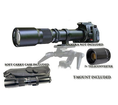 500mm/1000mm Lens for Canon EOS Digital Rebel 7D 60D 60Da T3i T6i T5i T3 XS 600D
