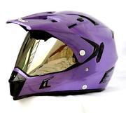 Purple ATV Helmet