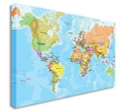 Wall Canvas, World Map
