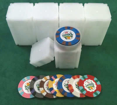 5 Casino Chip Tubes Collector Chip Storage Las Vegas 39, 40 & 41 mm Chips *