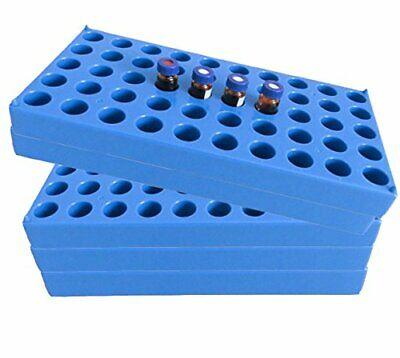 5 Packs Vial Rack Single Blue Holds 50 Standard 2 Ml Vials Stackable Holder