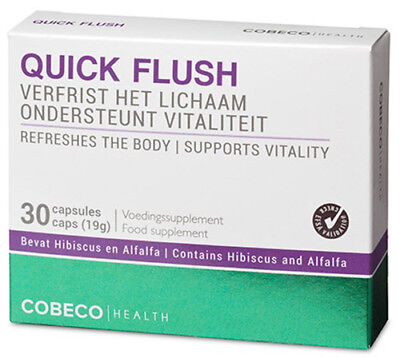 Quick Flush (COBECO QUICK FLUSH Supplement 30 caps Vitality Detox Deep Inner Cleansing Health)
