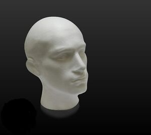 1 x SUPER QUALITY MALE POLYSTYRENE DISPLAY MANNEQUIN TORSO DUMMY HEAD