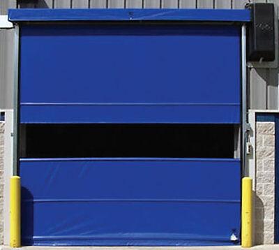 Commercial 10 X 8 Vinyl Pro Roll Up Door Using External Motor Fabric Door