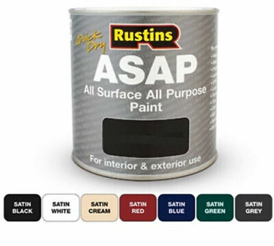 Rustins  ASAP Quick Dry All Surface All Purpose Paint - All Colours - All Sizes