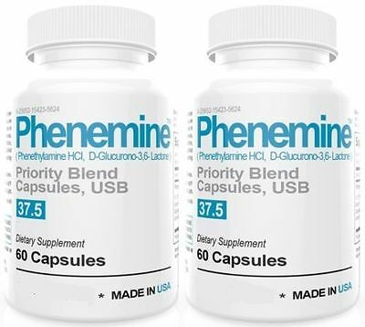 2 CT Phenemine Adipex 37.5 Slimming Pharmaceutical Grade Burner Best Diet Pills  3