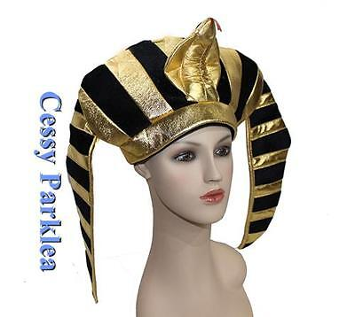 U49-G4 Mens Egyptian Pharaoh King Fancy Dress Costume Headpiece Helmet Hat
