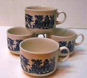 Churchill Blue Willow Mugs