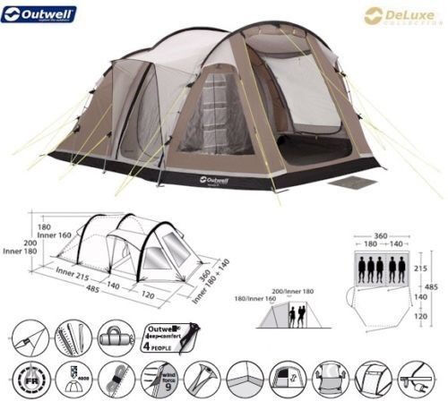 Outwell Nevada M Deluxe Collection Tent Outwell Nevada M