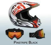 Red Dirt Bike Helmet