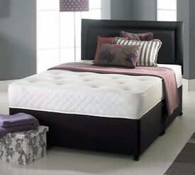 """70% OFF NOW"" 4ft6 Double / 4ft Small Double Divan Bed With 10"" Ambassador Full Orthopaedic Mattress"