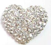 Diamante Heart Brooch
