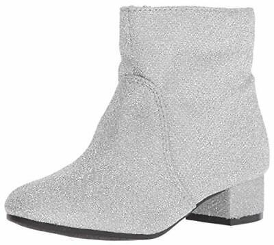 Nine West Mädchen' Alexius Modische Stiefel,Silber Sparkle,M060 M US Kleiner