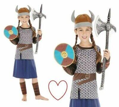 Wikinger Mädchen Kostüm Verkleidung Krieger Sächsisch Büchertag Woche ()