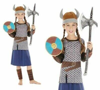 Mädchen Wikinger Kostüm Krieger Sächsisch Kostüm Büchertag Woche ()