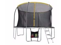 Sportspower 12ft Trampoline with Folding Enclosure Bundle 007