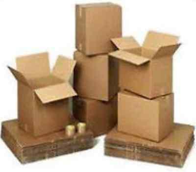 10x Cardboard Boxes 5x5x5