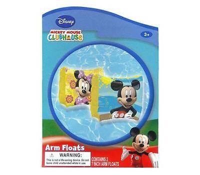 Disney Mickey Mouse Swim Arm Floats Pool Beach Floaties Kids Boys Girls 3+ NEW