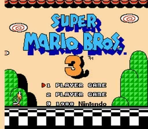 Super Mario Brothers 3 - NES Nintendo Game Bros III