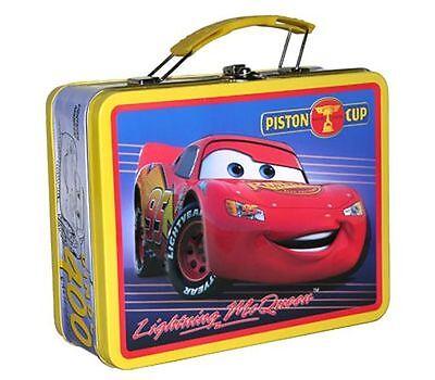 Disney Cars Lightning McQueen Piston Cup Tin Metal Lunch Box Bag Carry All Case - Lightning Mcqueen Bags