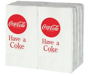 COCA-COLA-NAPKINS-FULL-SIZE-FOR-COKE-DISPENSER-DINNER-NAPKINS-100-ct-RETRO-NEW
