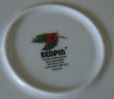 1 Soup Tureen With Lid Kopin Christmas Heritage Holiday Holly Berry