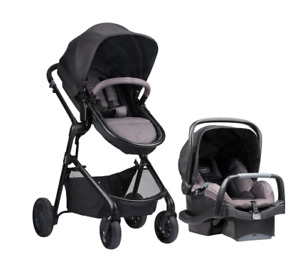 Evenflo Pivot Travel System - stroller, bassinet, car seat bases