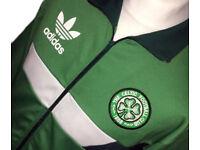 *OFFERS WELCOME* Celtic adidas Originals Football Warm Up Training Track Jacket Retro Trefoil Large