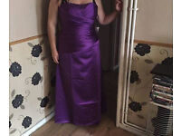 New Purple Bridesmaid/Prom dress with lace up back (only been tried on)