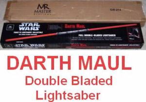 NEW MASTER REPLICAS DARTH MAUL DOUBLE LIGHTSABERS SW-214 NIB