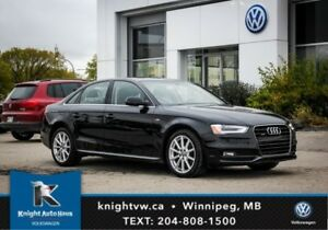 2015 Audi A4 Quattro AWD S Line w/ Leather/Navigation/Sunroof/B