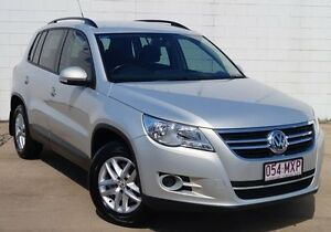 2010 Volkswagen Tiguan 5N MY11 103TDI DSG 4MOTION Silver 7 Speed Sports Automatic Dual Clutch Wagon Bundaberg West Bundaberg City Preview