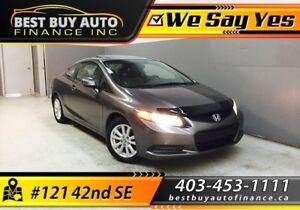 2012 Honda Civic Ex-L Coupe 5-Spd AT W/ NAV $99/Bi-weekly