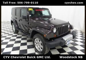 2013 Jeep Wrangler Unlimited Sahara - Hard Top, Heated Leather &