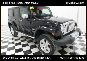 2011 Jeep Wrangler Unlimited Sahara 4 Door - Heated Leather & Ha