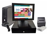 CHEAP RELIABLE FAST EPOS SYSTEM WITH PRINTER CASH DRAWER AND CALLER ID