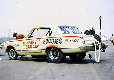 """Hairy Canary"" Early Funny Car 1/25th model car decal"