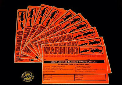 50 (CHECK-LIST!!) VIOLATION NO ILLEGAL PARKING TOW WARNING SIGN WINDOW STICKERS