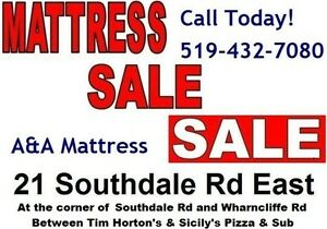 *Queen &*King Mattress orBoxsprings! NO TAX! GO TO: 21 SOUTHDALE London Ontario image 8